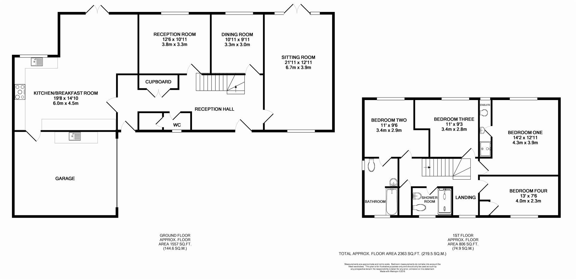Floorplan for Tower Hill, Horsham
